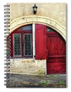 Red Windows And Door Provence France Spiral Notebook