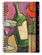 Red Wine Poster Spiral Notebook