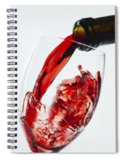 Red Wine Pour Spiral Notebook