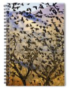 Red-winged Blackbirds At Sunset Spiral Notebook