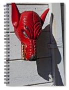 Red Wolf Mask Spiral Notebook