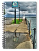 Reflecting At The Erie Basin Marina Spiral Notebook