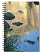 Reflecting Peaks In The Merced River Spiral Notebook