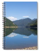 Reflection At The Reservoir Spiral Notebook
