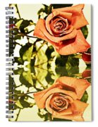 Reflection Of A Warm Rose Spiral Notebook
