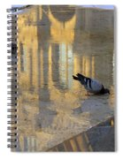Reflection Of The Louvre In Paris Spiral Notebook