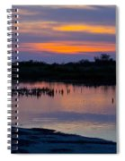 Reflection Of The Sunset Spiral Notebook
