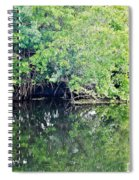 Reflection On The North Fork River Spiral Notebook
