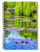 Reflections At Giverny Spiral Notebook