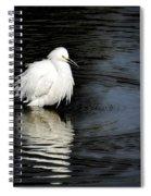 Reflections Of An Egret  Spiral Notebook