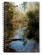 Reflective River Thoughts Spiral Notebook