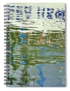 Reflective Water Abstract Spiral Notebook