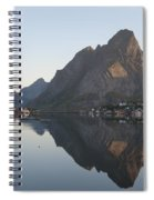 Reine Village In Early Morning Light Spiral Notebook