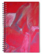 Relaxing In Red Spiral Notebook