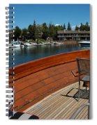 Relaxing On Lake Tahoe Spiral Notebook