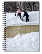 Removing Snow From A Building Spiral Notebook