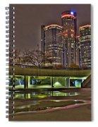 Renaissance Center Detroit Mi Spiral Notebook