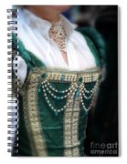 Renaissance Lady In Green Spiral Notebook