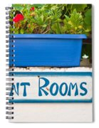 Rent Rooms Sign Spiral Notebook