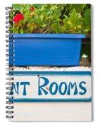 Rent Rooms Sign Spiral Notebook