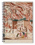 Representation Of The Terrible Fire Of New York Spiral Notebook