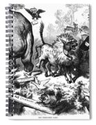 Republican Elephant, 1874 Spiral Notebook