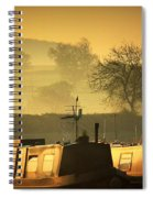 Resting Narrowboats Spiral Notebook