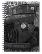Retired Rusty Relic Farm Truck Spiral Notebook