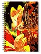 Retro Butterfly Spiral Notebook