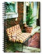 Retro Grunge Sidewalk Bench Seat Spiral Notebook