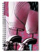 Retro In Pink Spiral Notebook