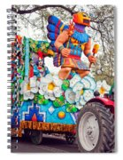 Rex Mardi Gras Parade V Spiral Notebook