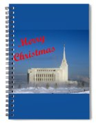 Rexburg Temple Christmas Spiral Notebook