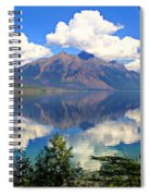 Rflection On Lake Mcdonald Spiral Notebook
