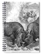 Rhinoceros Fight, 1875 Spiral Notebook