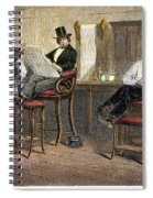 Richmond Barbershop, 1850s Spiral Notebook