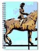 Riding Copper Spiral Notebook