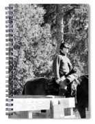 Riding Soldiers B And W II Spiral Notebook