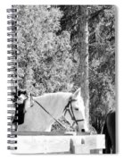 Riding Soldiers B And W IIi Spiral Notebook