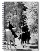 Riding Soldiers B And W Spiral Notebook