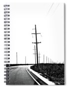 Riding The Line Spiral Notebook