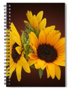 Ring Of Sunflowers Spiral Notebook