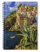 Rio Maggiore Cinque Terre Italy Spiral Notebook
