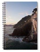 Riomaggio Sunset Spiral Notebook