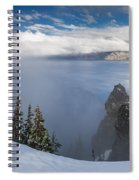 Rising Mists From Crater Lake Panorama Spiral Notebook