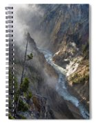 Rising Mists From Grand Canyon Of The Yellowstone Spiral Notebook