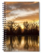 Rising Sun At Crane Hollow Spiral Notebook