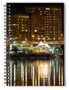 River Front At Night Spiral Notebook