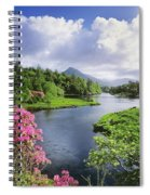 River Leading To A Mountain Spiral Notebook