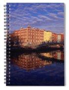 River Liffey And Halfpenny, Bridge Spiral Notebook